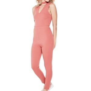GUESS Jumpsuit Choker Casual Stretch  Pink Sz S
